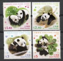 China Chine : (76) 2008 Hong Kong - Pandas SG1517/20** - Non Classés