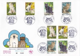 FDC Grand Format  Série  Nature  Chiens Et Chats - 1990-1999
