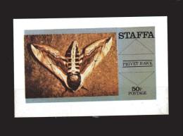 STAFFA  ** -  Bloc, Papillon - Mariposas.  MNH - Cinderella