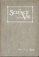 LA SCIENCE ET LA VIE VOL V - AVRIL MAI JUIN 1914 VENDIDO POR LA LIBRERIA DE B. MOEN BUENOS AIRES L´ARGENTINE - 1900 - 1949