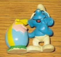 Figurine Schtroumpf  Oeuf De Pâques  Peyo 1984 - Schlümpfe