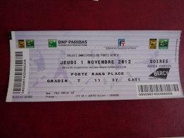 TICKET TENNIS  MASTER 2012    BERCY    Soiree        Scan Recto Verso - Tickets - Vouchers