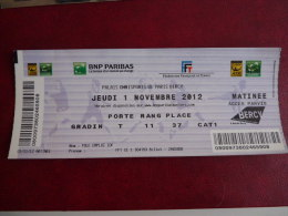 TICKET TENNIS  MASTER 2012    BERCY    Matinee        Scan Recto Verso - Tickets - Vouchers