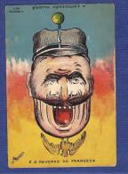Postal LITH COMMERCIAL PORTO. WWI Sad Military Germany / Happy French Ww1 War DOUBLE FACE. - Porto