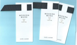 3 X Singapore Perfume Cards Carte Parfumee --  ESTEE LAUDER MODERN MUSE - Cartes Parfumées