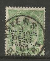 """BELGIQUE , BELGIE ; Perforé , Perfin ; """" T.B.C. """" , 5 C , Armoirie , 1893 -1900 , N° YT 56 - Perforés"""