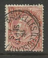 """BELGIQUE , BELGIE ; Perforé , Perfin ; """" (petits ) C L """" , 10 C , Léopold II , 1893 -1900 , N° YT 57 - Perforés"""
