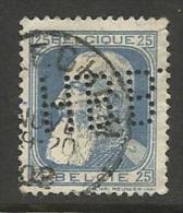 """BELGIQUE , BELGIE ; Perforé , Perfin ; """" H.B.B. """" , 25 C , Léopold II , 1905 , N° YT 76 A - Perforés"""