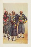 Reproduction Aquarelle : Tirailleurs Indigènes En Grande Tenue - Uniforms