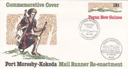 Papua New Guinea 1985 Kokoda Trail Mail Re-enactment Prepaid Envelope N 05,FDC Special Postmark - Papua New Guinea