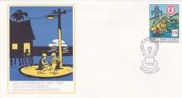 Papua New Guinea 1988 Pre Paid Envelope E 14 25th Aniversary Of Electricity FDC - Papoea-Nieuw-Guinea