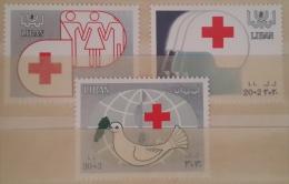 11 Lebanon 1988 SG 1308-1310 Red Cross Aid - Complete Set MNH - Lebanon