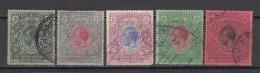 1912 - 1921   YVERT   Nº 142 , 143 ,145 , 147 , 148 ,   MATASELLOS  FISCAL - Kenya, Uganda & Tanganyika