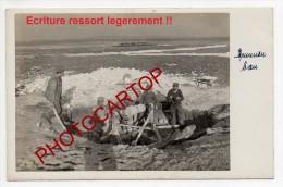 Construction D'un PUIT-CHAMPAGNE-!!-NON SITUEE-CARTE PHOTO Allemande-GUERRE 14-18-1 WK-FRANCE-51- - Non Classificati