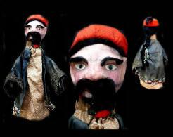 Marionnette à Gaine De Conseiller De L'empereur De Chine / Old Puppet Featuring An Advisor Of The Chinese Emperor - Art Populaire
