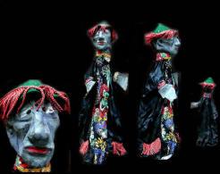 Ancienne Marionnette à Gaine De Mandarin Chinois /  Old Puppet Featuring A Chinese Mandarin - Art Populaire