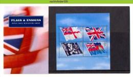 Nbd0304b VLAG FLAGS & ENSIGNS FLAGGEN 100 JAHRE U-BOOT-WAFFE DER ROYAL NAVY GREAT BRITAIN PRESENTATION PACK 2001 PF/MNH - Postzegels