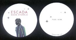 2 X Singapore Perfume Cards Carte Parfumee --  ESCADA MOON SPARKLE FOR HIM - Perfume Cards