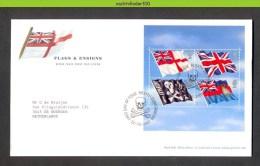 Nbd0306b VLAG FLAGS & ENSIGNS FLAGGEN 100 JAHRE U-BOOT-WAFFE DER ROYAL NAVY GREAT BRITAIN 2001 FDC - Vlag