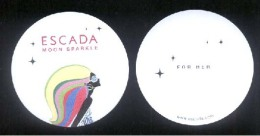 3 X Singapore Perfume Cards Carte Parfumee --  ESCADA MOON SPARKLE FOR HER - Modern (from 1961)