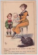 """MICH Artiste - What A Fine Baby For Six Months ! - Chat Noir - Bébé - Black Cat - N°3 De La Série """"Bambins Et Bambines"""" - Mich"""
