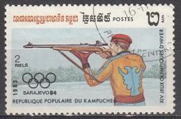 Cambogia, 1984 - 2r Cross-country Skiing - Nr.467 Usato° - Cambogia