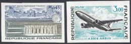 FRANCE 1973 NON DENTELE Nº 1750a/1751a IMPERF - France