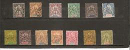 TIMBRES DE 1892  -  93  N° 8   à   20  Oblitéré - Used Stamps