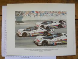 4 affiches posters Daniel Picot  - 24 heures du Mans - sport automobilie - 1937 1988 1991 1993