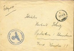 "Feldpostcover 1941 - ""Kommandantur KRAKAU - Briefstempel"" + Contents ( Picture Card Krakau  Barbakan ). - Briefe U. Dokumente"
