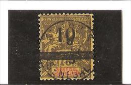 TIMBRES DE 1892  -  93  Surchargés  N° 28  Oblitéré - Used Stamps