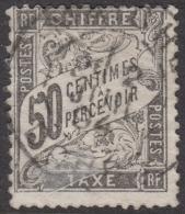 50c Taxe Duval Oblitéré TB  (Y&T N° 20 , Cote: 240€) - 1859-1955 Oblitérés