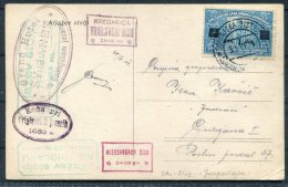1924 Slovenia Bohinjska Bistrica Hazev Stolp Rocket Test Flight Postcard Grand Hotel - Slovenia