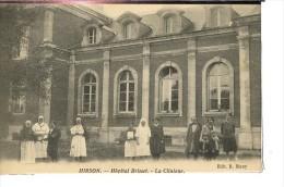 Dpt 02 Hirson Hopital Brisset, Le Personnel De La Clinique Ed Muny Animée 1931 EV TBE Carte De 1920 - Frankreich