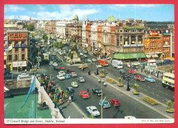 165016 / DUBLIN - O'CONNELL BRIDGE AND STREET , CAR BUS, CLUB ORANGE - Ireland Irlande Irland - Dublin