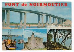 NOIRMOUTIER--Le Pont De Noirmoutier Et Vues Diverses Cpsm 15 X 10 N°202 éd  Artaud-cachet LA GUERINIERE-85 - Noirmoutier