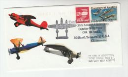 1993  Midland TEXAS AIR SHOW EVENT COVER Aviation  USA Stamps Flight - Avions