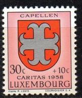 PIA - LUX - 1958 : A Profitto Delle Opere Sociali : Stemma Di Capellen- (Yv 553) - Lussemburgo