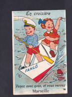 Carte à Systeme - Marseille - En Croisière ... Bateau Papier Fanlô Pliage Plié Enfants Costume Marin Dépliant 10 Vues - Non Classificati