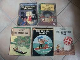 TINTIN LOT D'ALBUM EN ANGLAIS   HERGE - Tintin