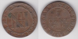 ALLEMAGNE WESTPHALIE : 5 CENT 1812 C Bronze (voir Scan) - [ 1] …-1871 : German States