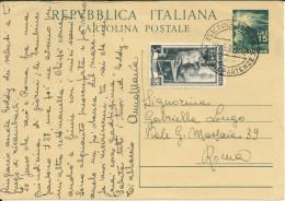 Italy 1948-49  Stationery Entier Postal Cartolina Postale 15 L. - 6. 1946-.. Repubblica