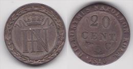 ALLEMAGNE WESTPHALIE : 20 CENT 1810 C Argent (voir Scan) - [ 1] …-1871 : German States