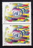 CHINE   CHINA 1995      O N U   50ème Anniversaire, Drapeau Et Siège De N.Y., Emblème, -  U N O        2 X 2 - Neufs