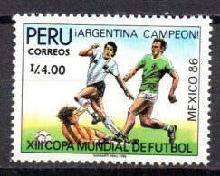 PEROU  N° 866   * *  Cup 1986  Football  Fussball  Soccer - Coupe Du Monde