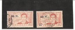 TIMBRES DE 1939  Surchargés  N° 196   à   197  Oblitérés - Used Stamps