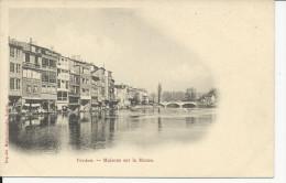Verdun  Maisons Sur La Meuse Carte 1900 - Verdun