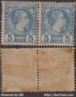 5c Charles III En Paire Neuf * Et TB (Y&T N° 3, Cote +200€) - Monaco