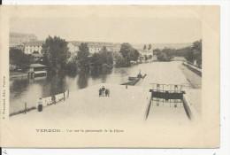 Verdun Promenade De La Digue Carte 1900 - Verdun