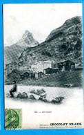 OV1282, Zermatt, Le Cervin, No33, Circulée 1908 - VS Valais